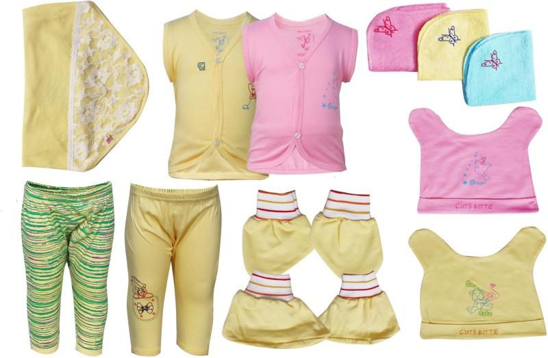 Jo Kids Wear Baby Apparel gift set(Yellow)