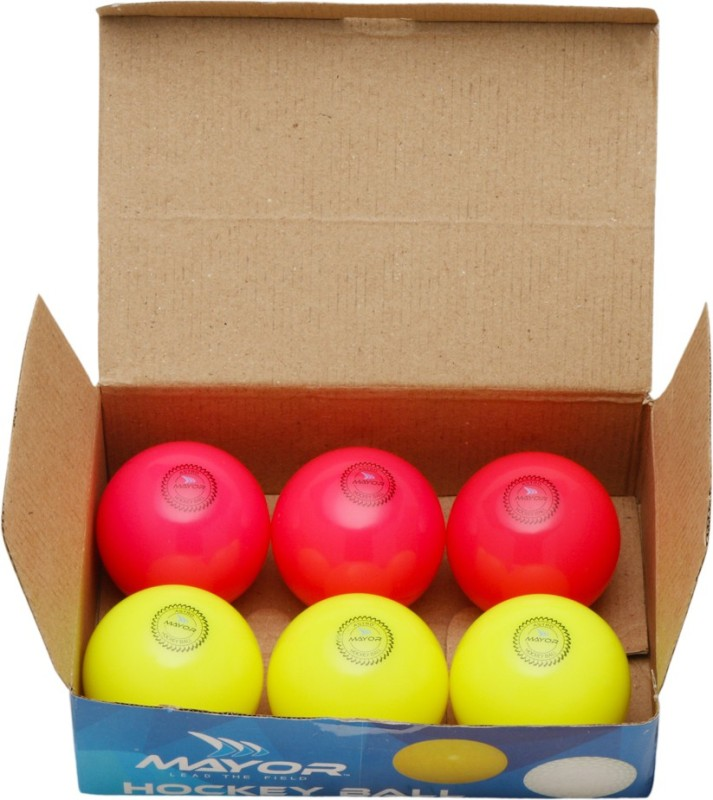 Mayor Astro Hockey Ball - Size: 5(Pack of 6, Multicolor)
