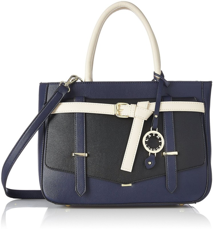 Cathy London Hand-held Bag(Black, Blue)