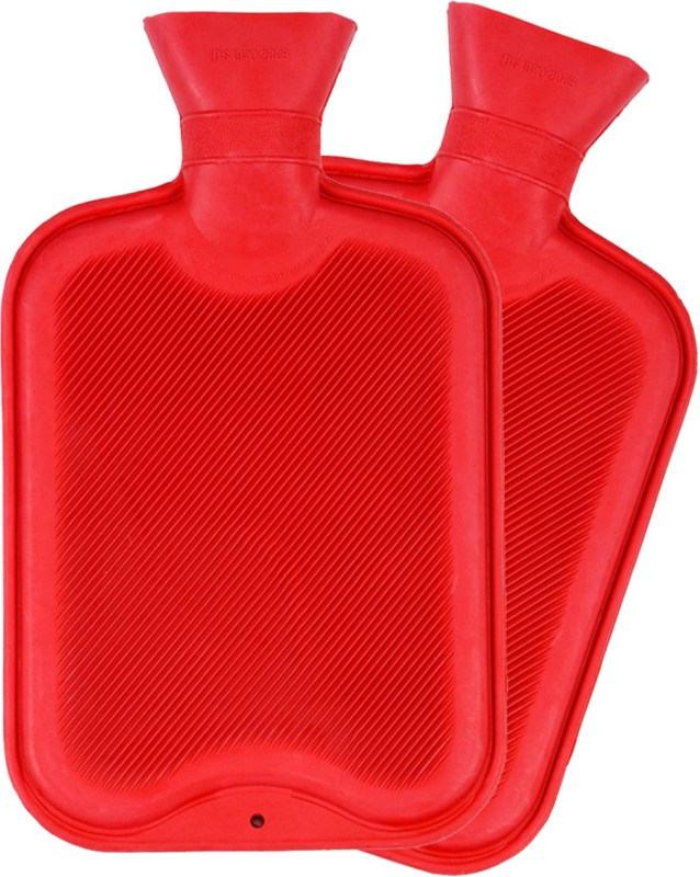 Recombigen Hot Water Bottle Red (Pack Of 2) Combo Pack of 2 2000 ml Hot Water Bag(Red)