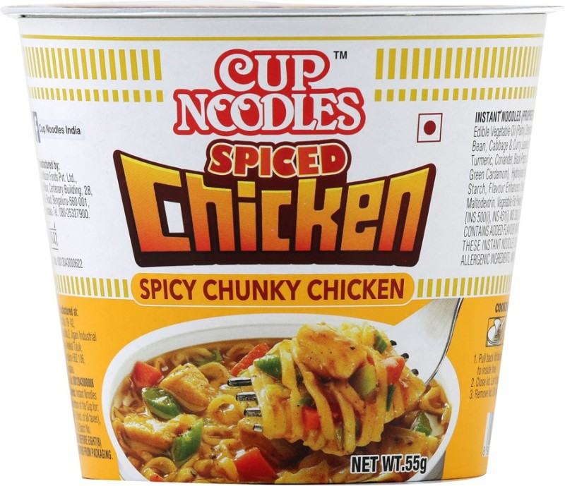 Nissin Spiced Chicken Cup Noodles 55 g(Non-vegetarian)