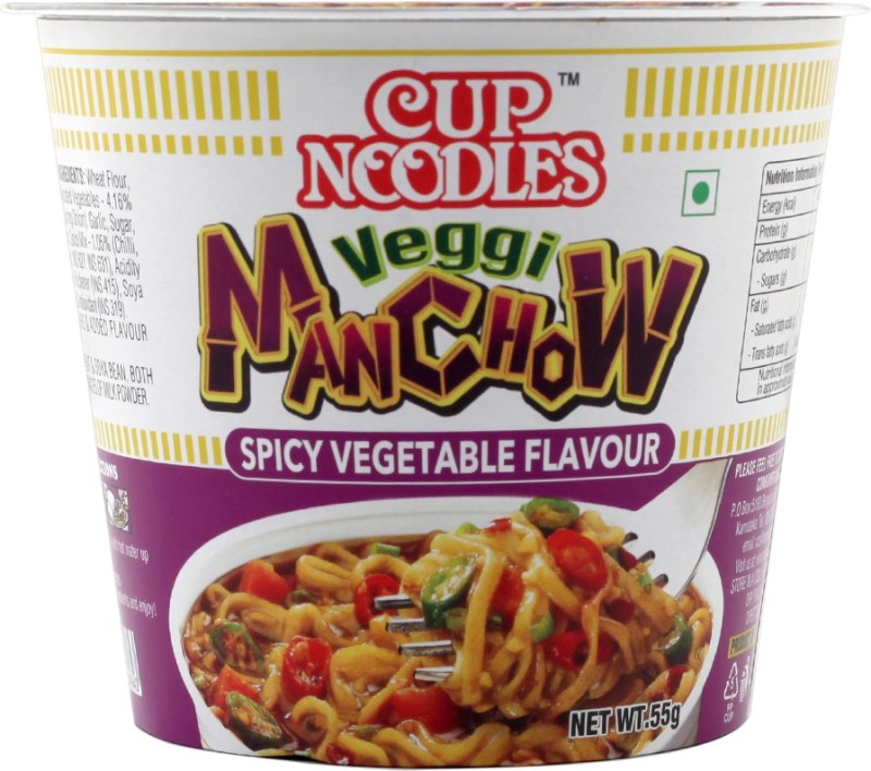 Nissin Veggie Manchow Cup Noodles 55 g(Vegetarian)