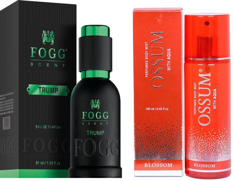 FOGG COMBO PACK OF OSSUM BLOSSOM PERFUME 190 ml + FOGG TRUMP PERFUME 50 ML Eau de Parfum - 10 ml(For Men & Women)