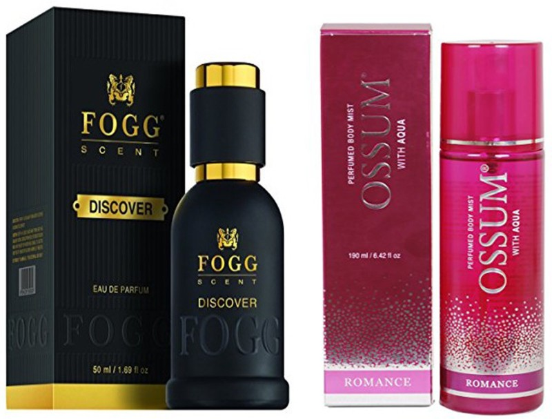 FOGG COMBO PACK OF OSSUM ROMANCE PERFUME 190 ml + FOGG DISCOVER PERFUME 50 ML Eau de Parfum - 10 ml(For Men & Women)