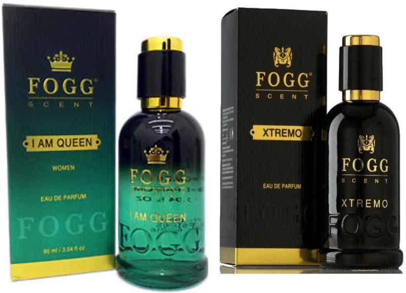 FOGG COMBO PACK OF FOGG XTREMO PERFUME 90 ML + FOGG I AM QUEEN PERFUME Eau de Parfum - 90 ml(For Men & Women)