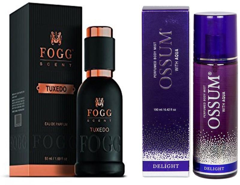 FOGG COMBO PACK OF OSSUM DELIGHT PERFUME 190 ml + FOGG TUXEDO PERFUME 50 ML Eau de Parfum - 10 ml(For Men & Women)