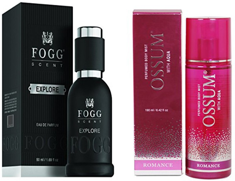 FOGG COMBO PACK OF OSSUM ROMANCE PERFUME 190 ml + FOGG EXPLORE PERFUME 50 ML Eau de Parfum - 10 ml(For Men & Women)