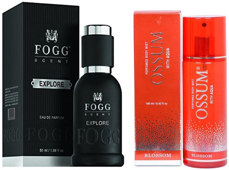 FOGG COMBO PACK OF OSSUM BLOSSOM PERFUME 190 ml + FOGG EXPLORE PERFUME 50 ML Eau de Parfum - 10 ml(For Men & Women)