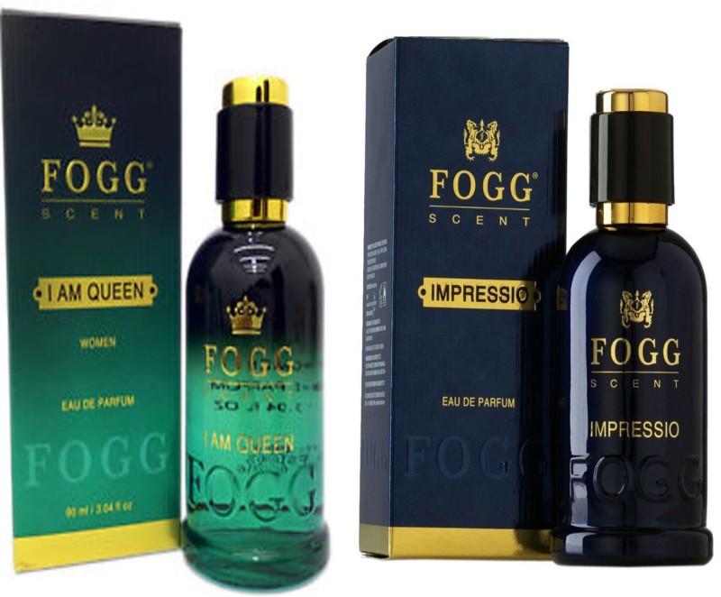 Fogg COMBO PACK OF FOGG IMPRESSIO PERFUME 90 ML + FOGG I AM QUEEN PERFUME Eau de Parfum - 90 ml(For Men & Women)