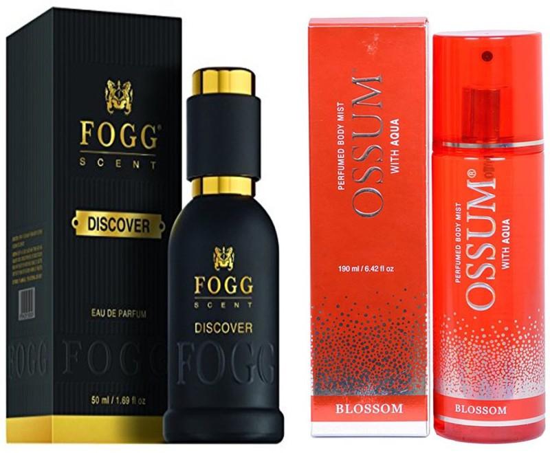 FOGG COMBO PACK OF OSSUM BLOSSOM PERFUME 190 ml + FOGG DISCOVER PERFUME 50 ML Eau de Parfum - 10 ml(For Men & Women)