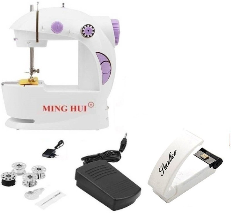Benison India Portable & Compact 4 in 1 with Super Sealer Electric Sewing Machine( Built-in Stitches 45)