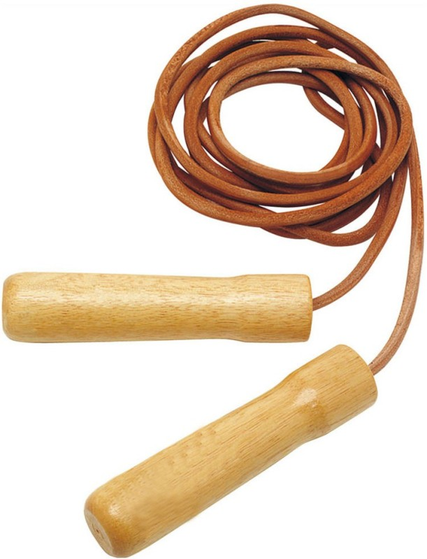Sports Solutions Wood Handle Jump Rope. Freestyle Skipping Rope(Brown, Length: 305 cm)