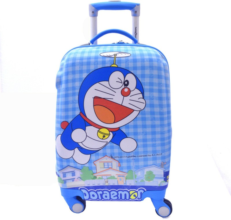 Texas USA Kids DOREMON Printed Cabin Luggage - 22 inch(Blue)