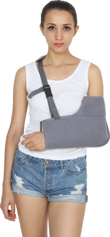 KS CARE Comfortable soft Arm Sling Shoulder Support (XL, Grey)