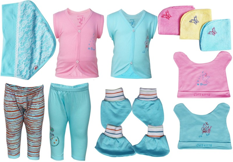 Jo Kids Wear Baby Apparel gift set(Light Blue)