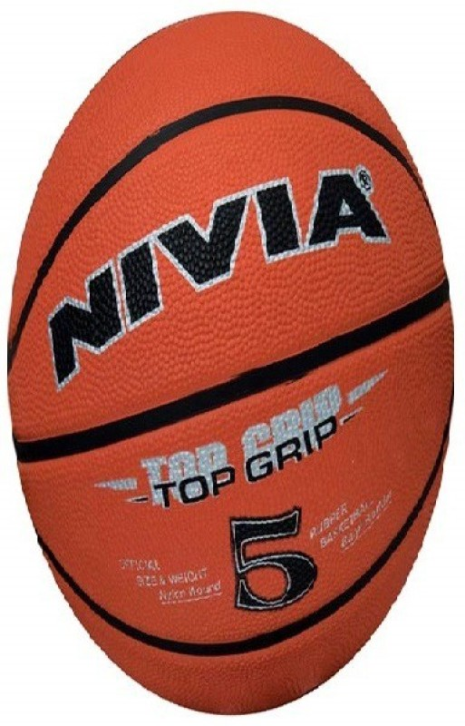Nivia Top Grip Basketball - Size: 5(Pack of 1, Brown)