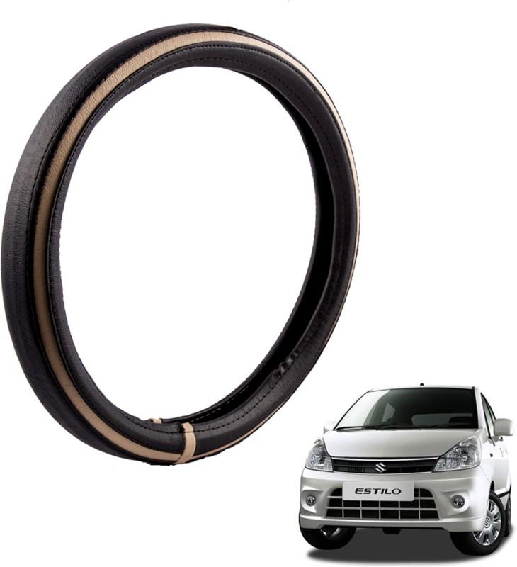Autofy Steering Cover For Maruti Zen Estilo(Black, Leather)