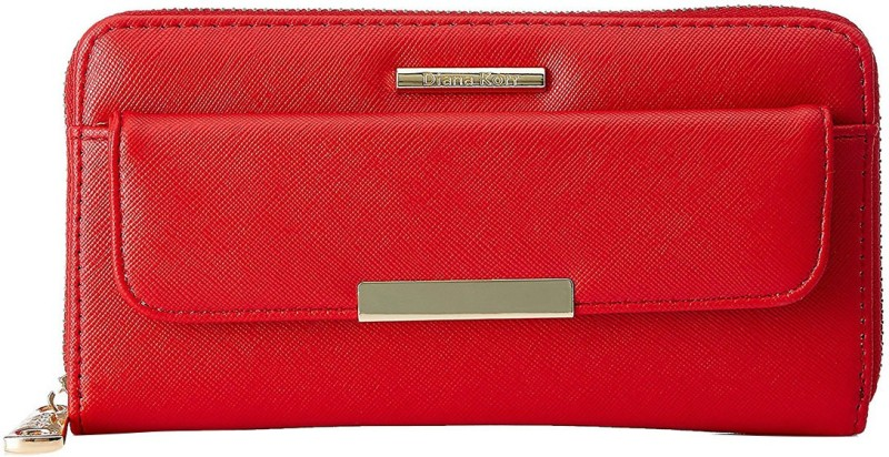 Diana Korr Women Red Artificial Leather Wallet(4 Card Slots)