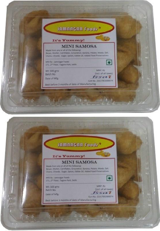 Jamnagar Foods MINI SAMOSA 1000GM COMBO Combo(2)
