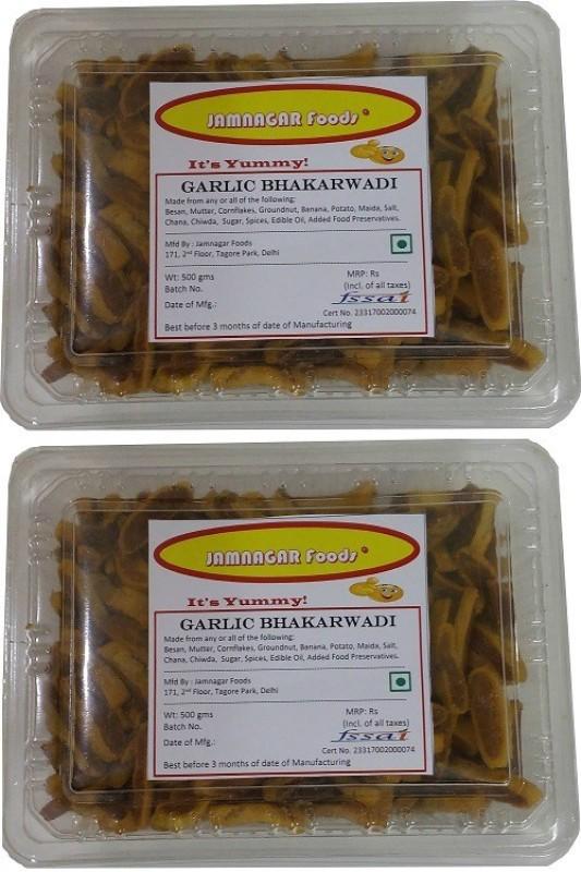 Jamnagar Foods GARLIC BHAKARWADI 1000GM COMBO Combo(2)