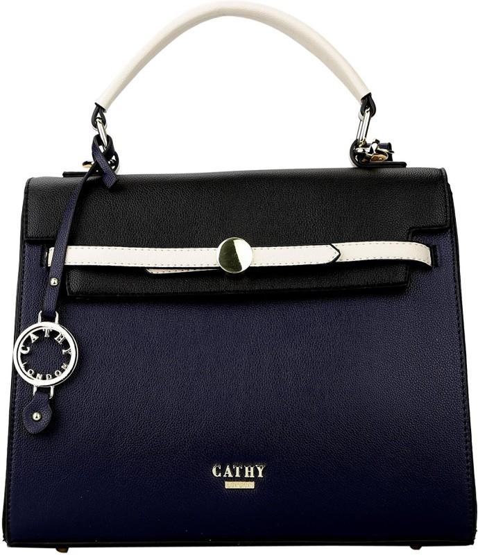 Cathy London Hand Held Bag Black Blue