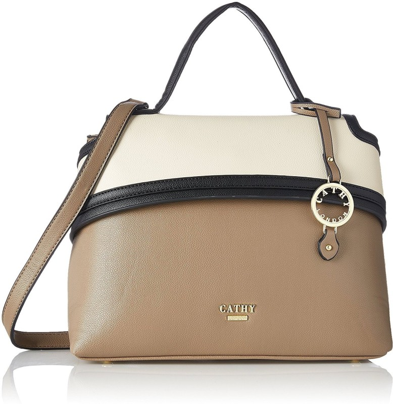 Cathy London Hand-held Bag(Khaki, Beige)