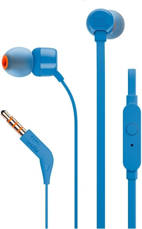 JBL T110 Headphone(Blue, In the Ear)