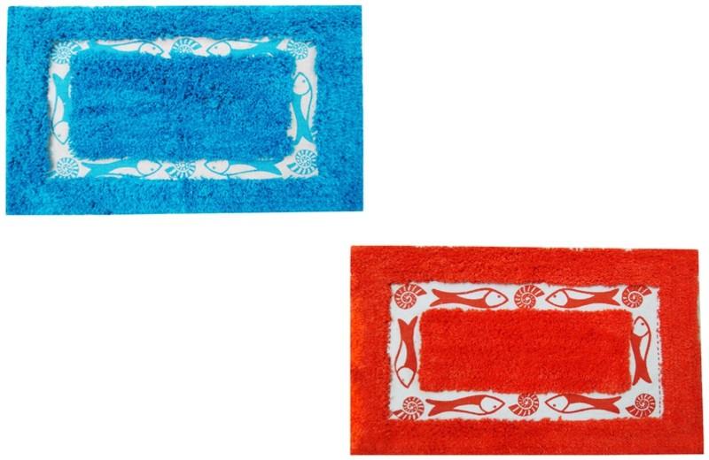 AAZEEM Cotton Bath Mat Cotton Bath Mat Decorative Rugs & Mats(Multicolor, Medium)