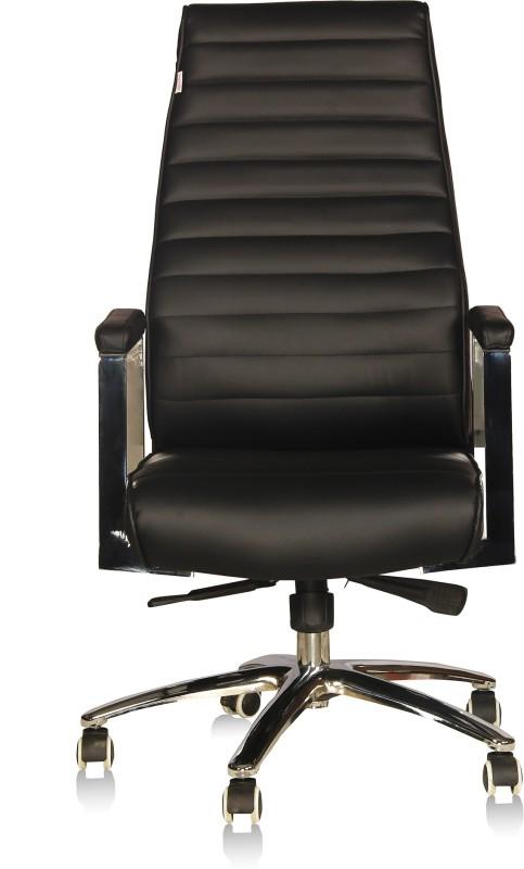 Silver Arrow Executive Chair Leatherette Office Executive Chair(Black)