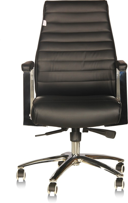 Silver Arrow Executive Chair Leatherette Office Executive Chair(Black)