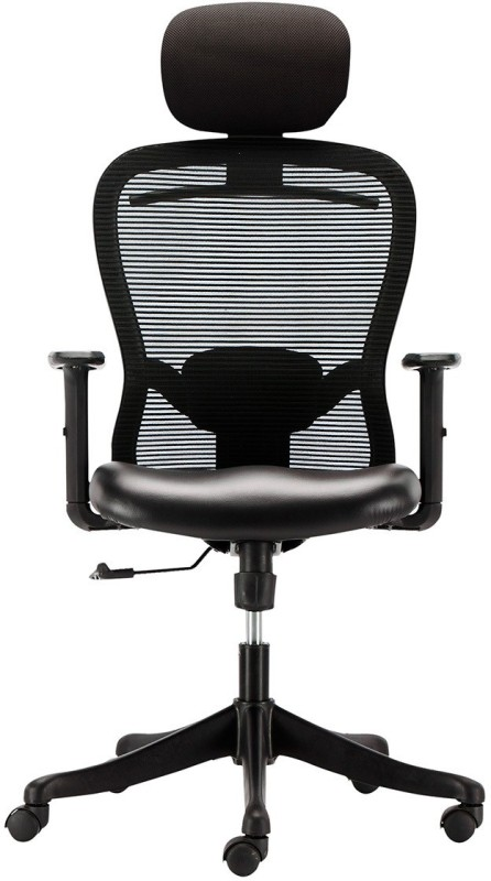 HOF Premium High Back - Marco 1013 Protected Leather Office Executive Chair(Black)
