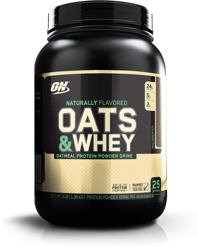 Optimum Nutrition 100% Natural Oats & Whey Protein(1.36 kg, Milk Chocolate)