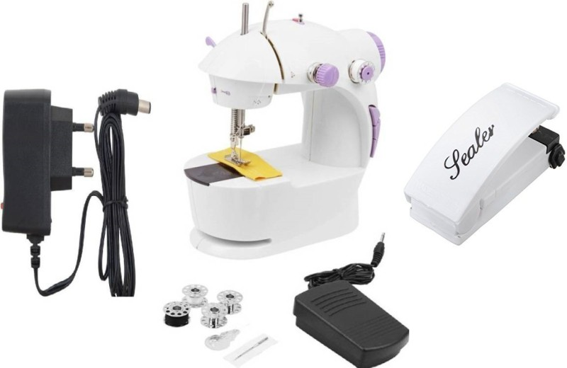 Benison India Mini 4in1 with handheld sealer Electric Sewing Machine( Built-in Stitches 45)