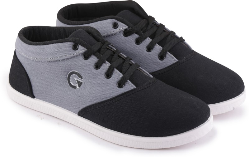 Globalite Canvas Shoes(Black, Grey)