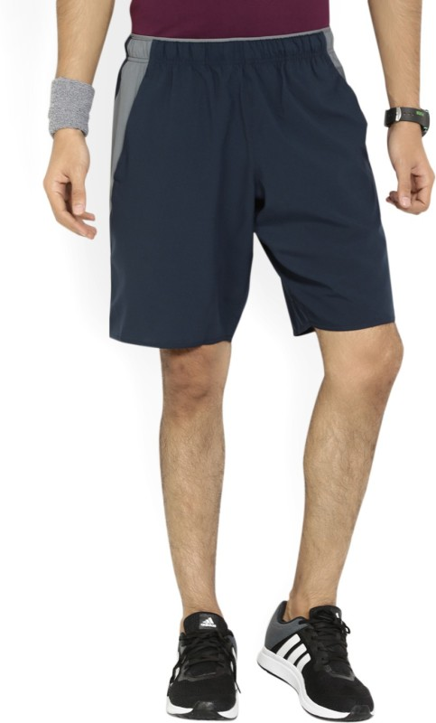 Reebok Solid Mens Dark Blue Sports Shorts