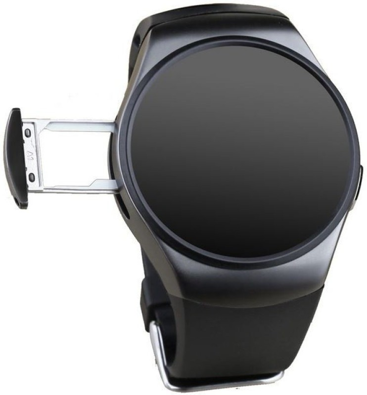 SI Full Circular Screen Heart Rate - Black Smartwatch(Black Strap 1.3)