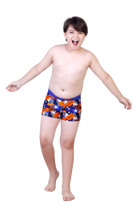 Rovars Geometric Print Boys Swimsuit