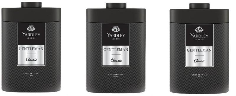 Yardley London Gentleman Classic Talc (Pack of 3)(250 g)