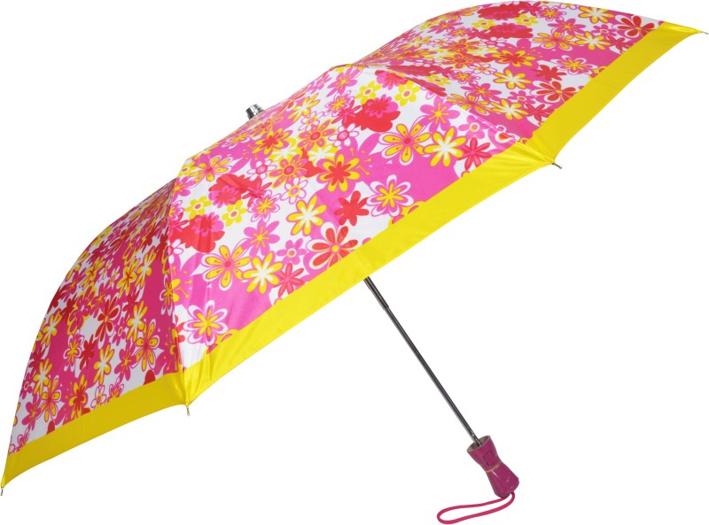 Fendo 2 Fold Auto open multi color women Umbrella(Multicolor)