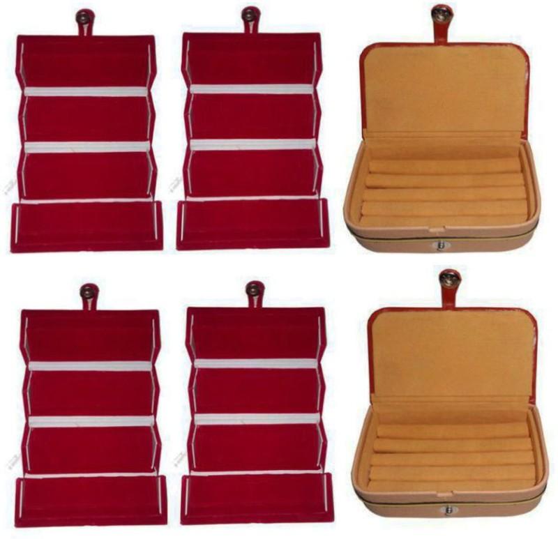 Aadhya combo of ring & earring box pack of 6 Multipurpose Vanity Box(Multicolor)