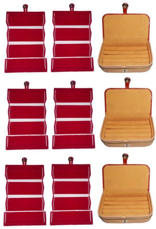 Aadhya combo of ring & earring box pack of 9 Multipurpose Vanity Box(Multicolor)