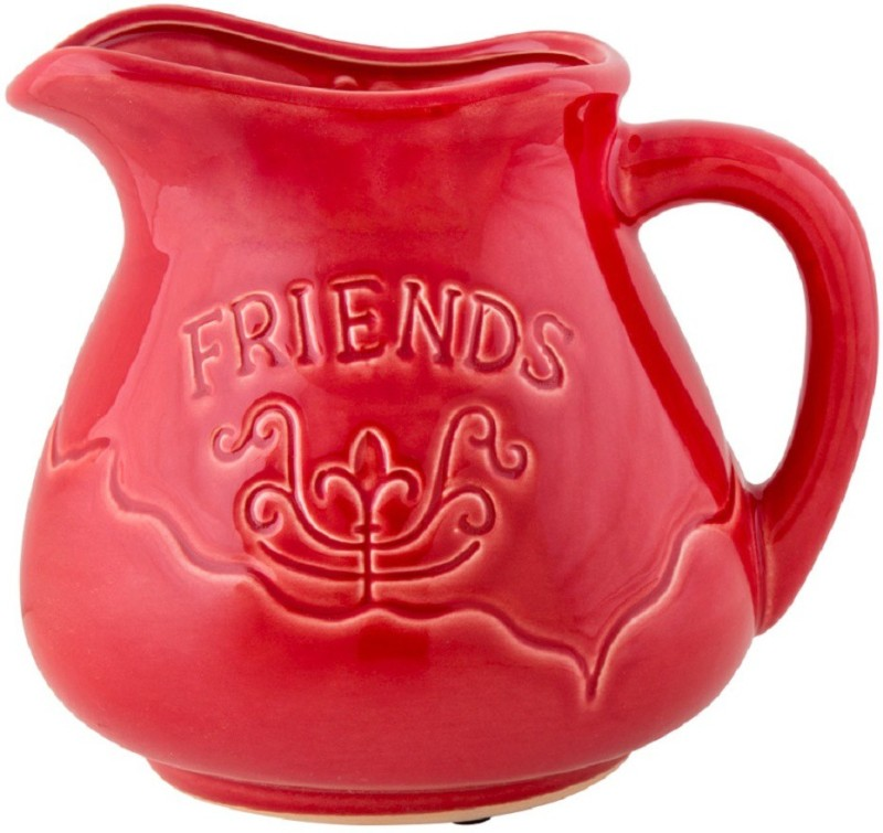 Chumbak Friends II Earthenware Vase(8 inch, Red)
