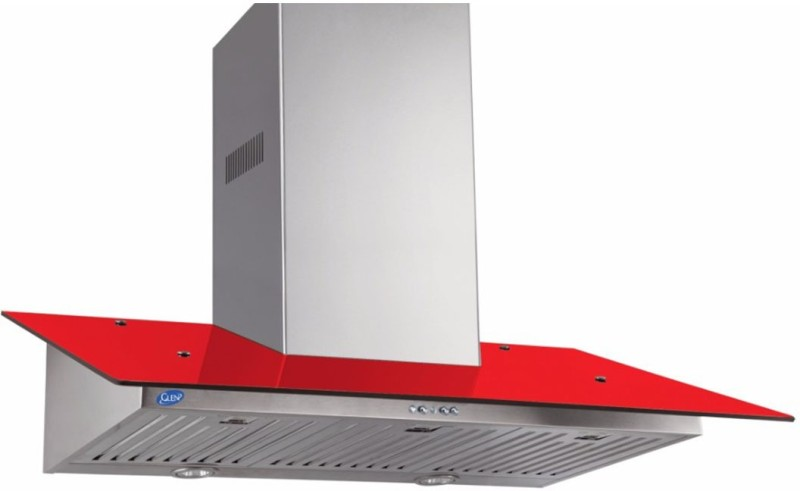 GLEN GL 6077 Colour 90 cm Wall Mounted Chimney(Red 1000)