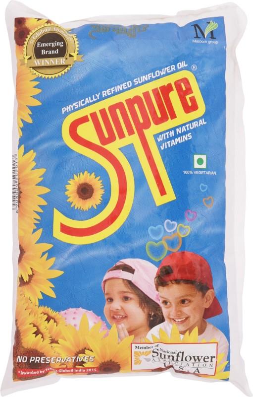 Sunpure Sunflower Oil Pouch(1 L)