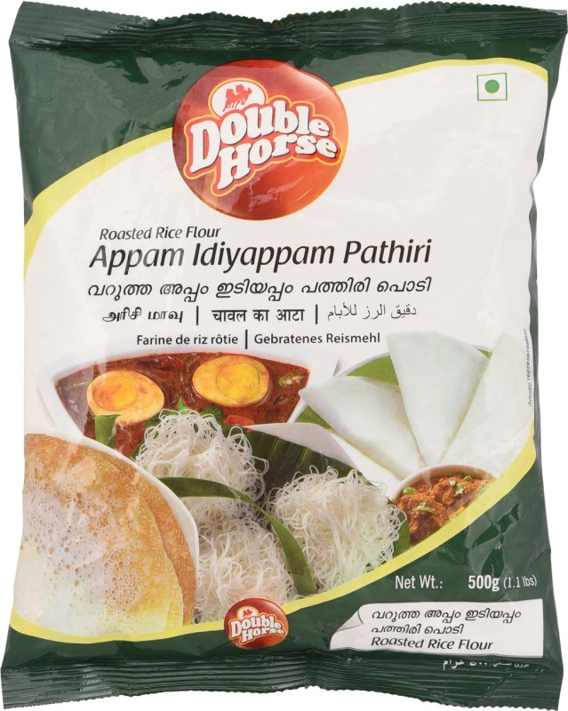 Double Horse Appam Iddiyappam Pathiri Rice Flour(500 g)