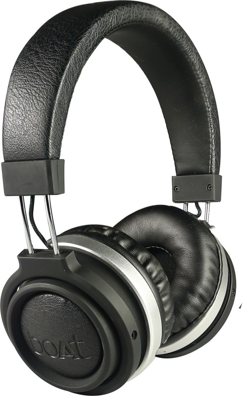 boAt Rockerz 470 bluetooth Headphone(Black, On the Ear)