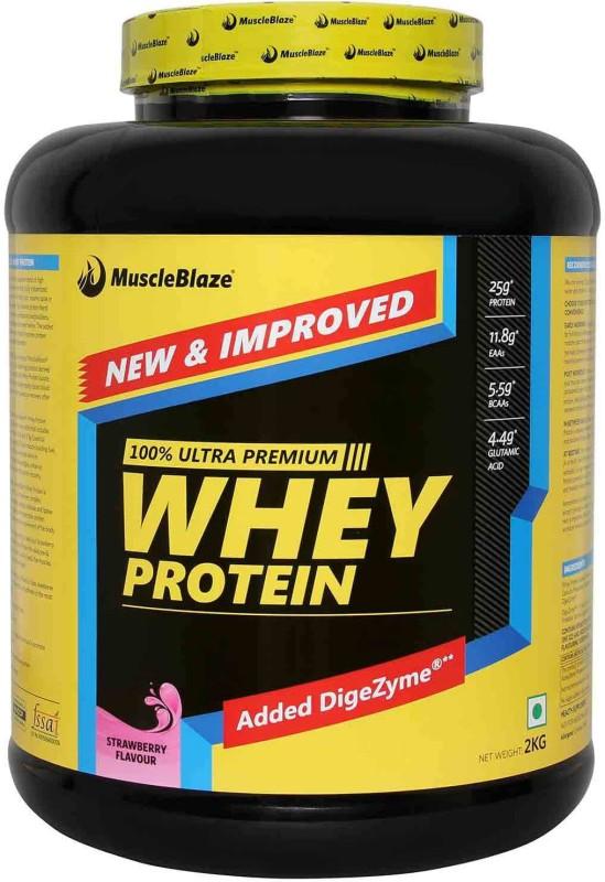 MuscleBlaze 100% Ultra Premium Whey Protein(2 kg, Strawberry)