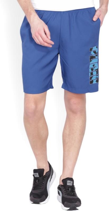 Puma Solid, Printed Mens Dark Blue Sports Shorts