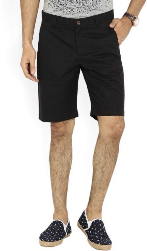 United Colors of Benetton. Solid Men's Black Chino Shorts