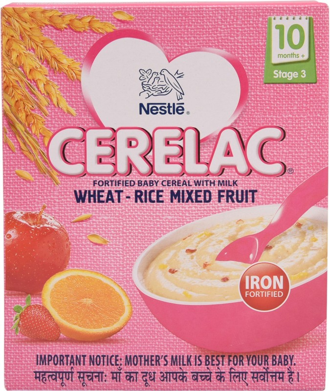 Nestle CerelacWheat Rice Mixed Fruit Cereal for Babies & Infants(300 g)